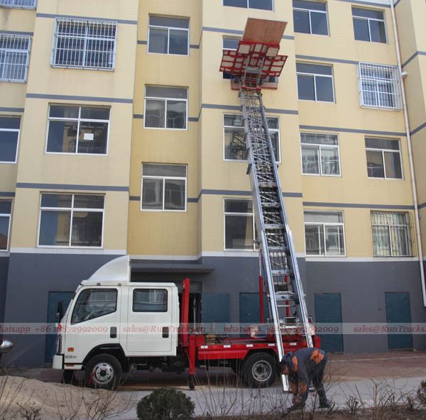 China truck mounted high aerial working platform 02