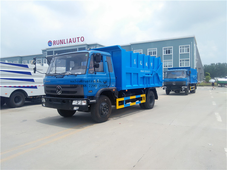 Dongfeng 153 160 horse power  garbage waste transfer truck04.jpg