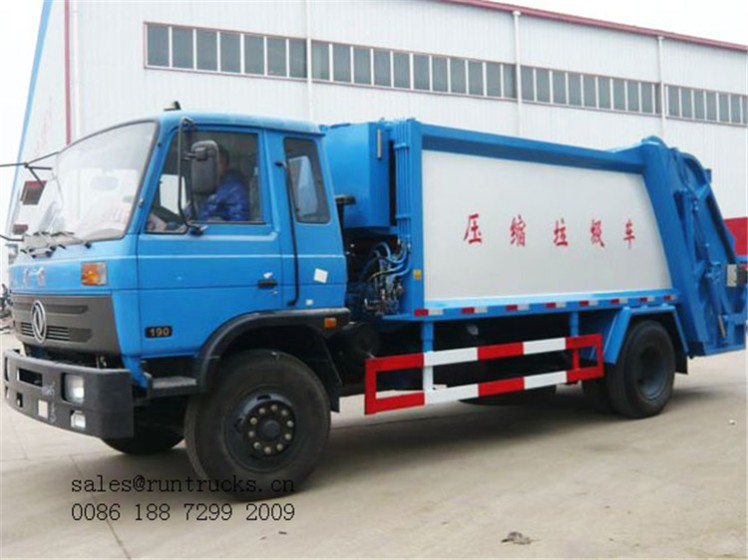 Dongfeng 153 sanitation compression garbage Truck 01.jpg