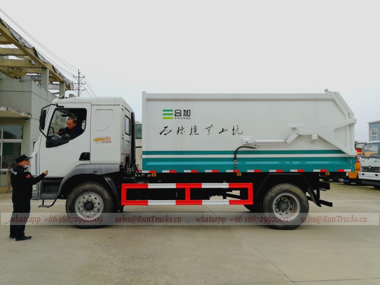 Dongfeng Butt-Type 10 cbm garbage truck 02.jpg