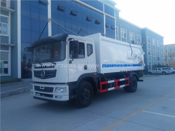 Dongfeng docking refuse collector garbage and Garbage Compactor Truck 06.jpg