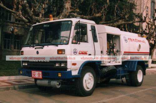 Dongfeng old cab style aircraft fuel refueling tank truck.jpg