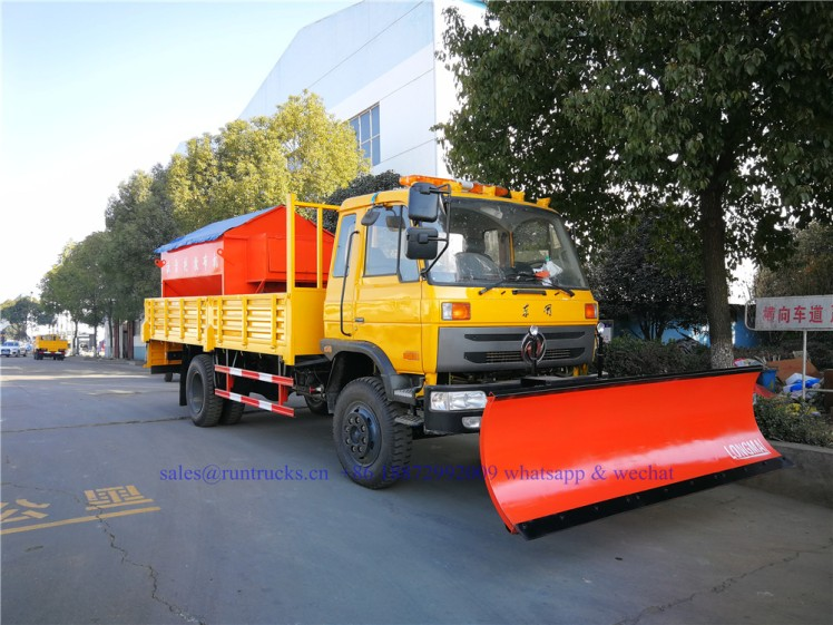 china dongfeng cargo truck with 3.3m snow shovel and 3.5cbm snow melt spreading machine 01.jpg