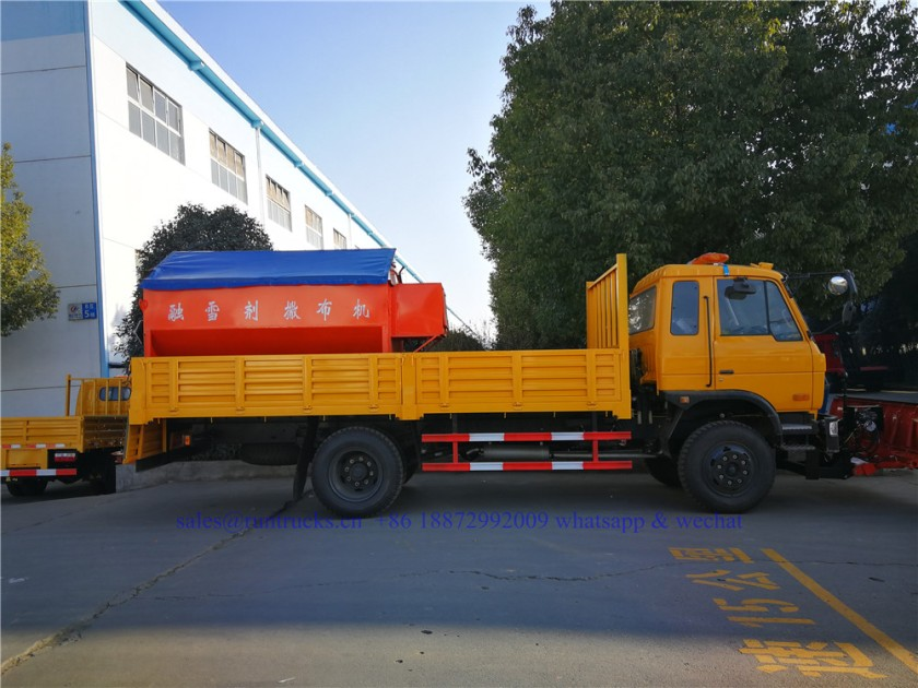 china dongfeng cargo truck with 3.3m snow shovel and 3.5cbm snow melt spreading machine 04.jpg