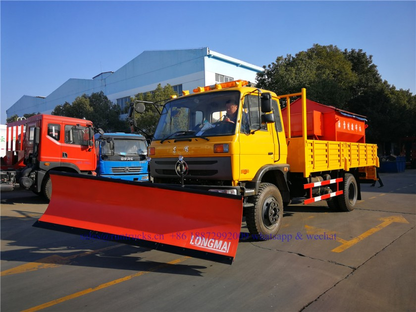 china dongfeng cargo truck with 3.3m snow shovel and 3.5cbm snow melt spreading machine 05.jpg