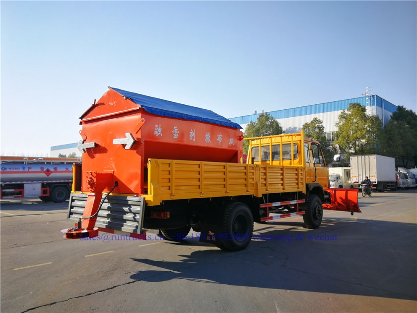 china dongfeng cargo truck with 3.3m snow shovel and 3.5cbm snow melt spreading machine 07.jpg
