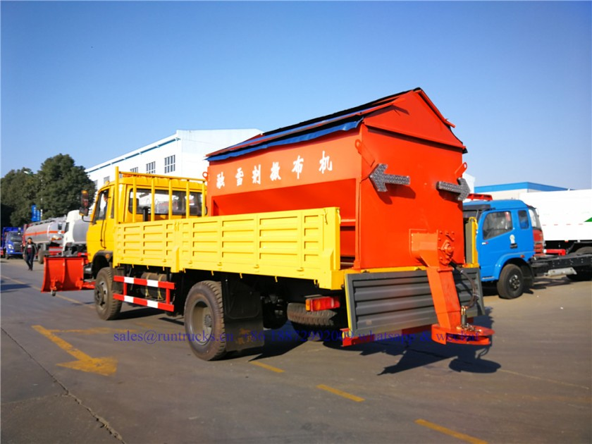 china dongfeng cargo truck with 3.3m snow shovel and 3.5cbm snow melt spreading machine 08.jpg