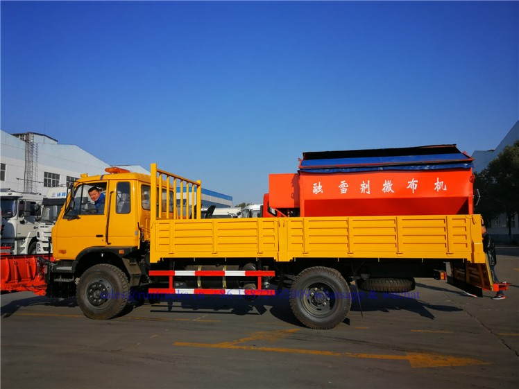 china dongfeng cargo truck with 3.3m snow shovel and 3.5cbm snow melt spreading machine 09.jpg