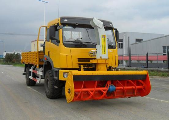 China FAW cargo truck with snow blower.jpg