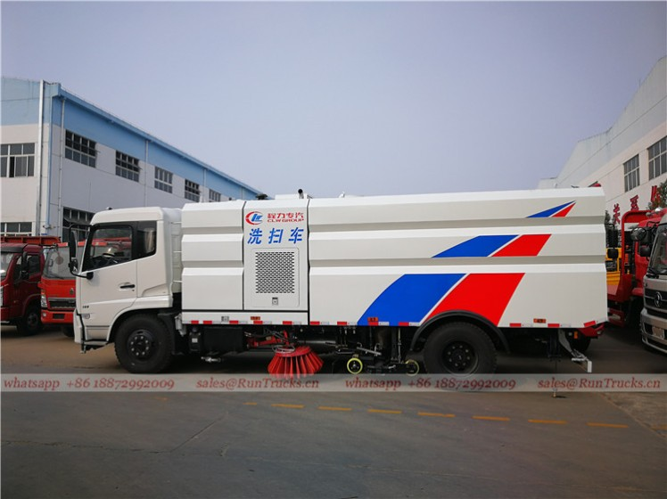 Dongfeng tianjin road sweeper truck