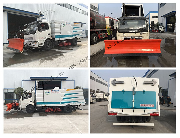Dongfeng Vacuum Road Sweeper Truck with snow shovel.jpg