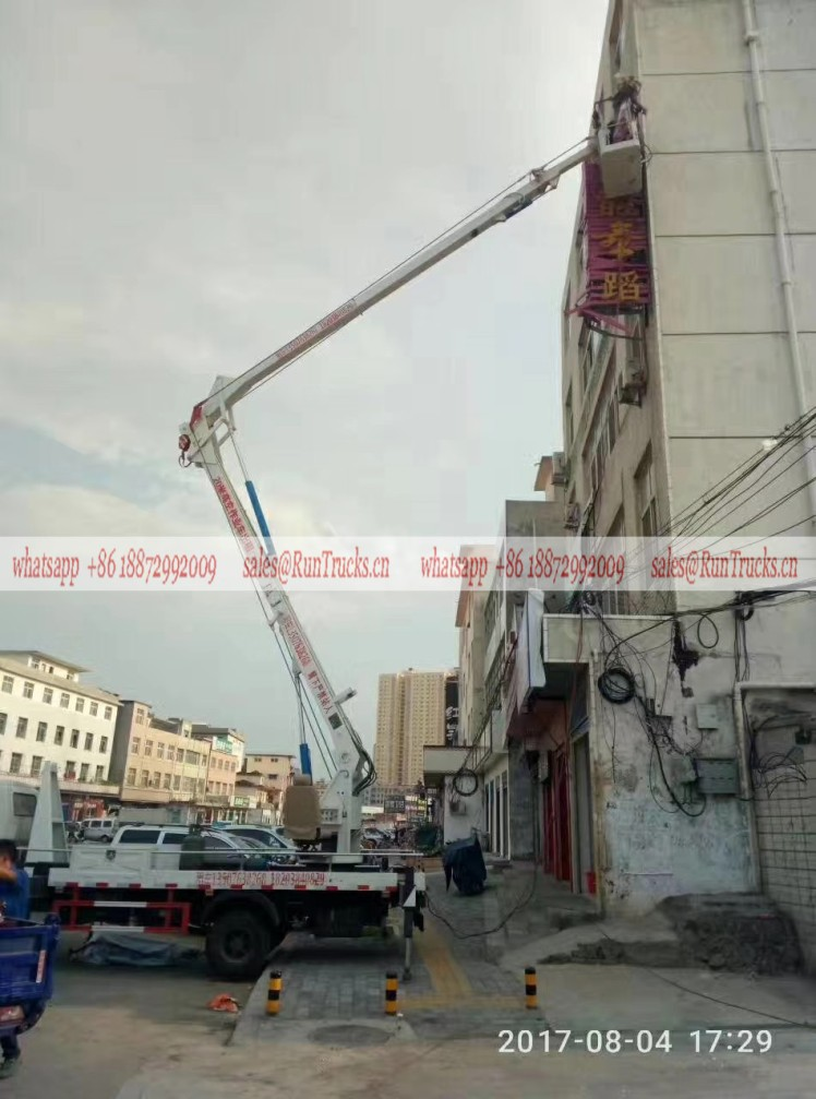 Isuzu 18m aerial work truck help the moving of household up and down.jpg