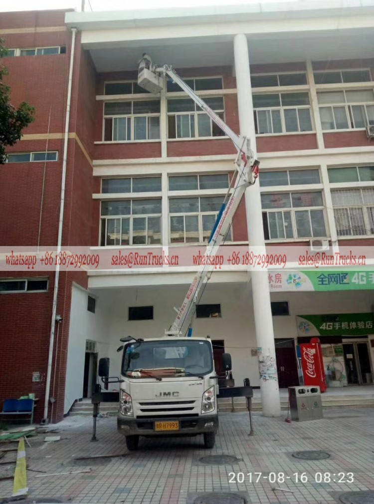 JMC 24m aerial work truck assisting for the building enginerring painting.jpg