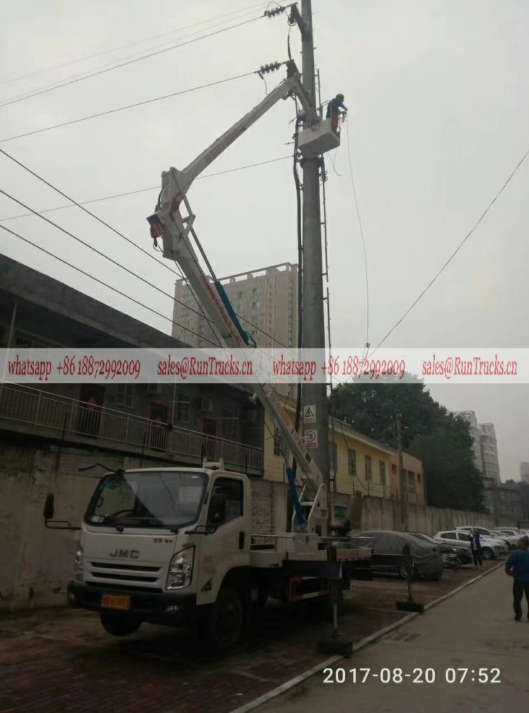 JMC 24m aerial work truck  Servicing of electric power repair.jpg