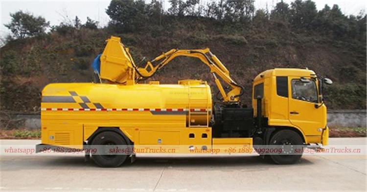 China Dongfeng wall & Guardrail Cleaning Truck 01
