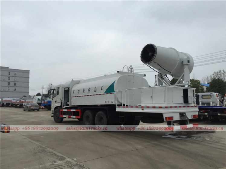 Dongfeng 15 cbm dust suppression truck with 100m fog cannon 03