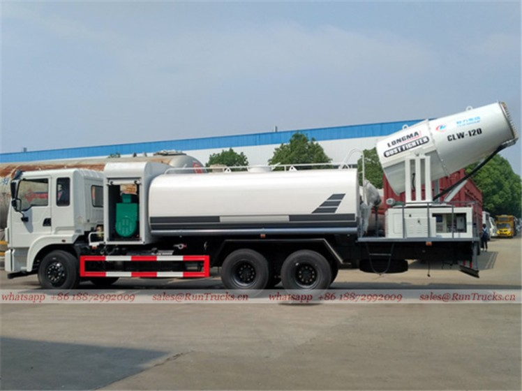 Dongfeng 15 cbm dust suppression truck with 100m fog cannon 10