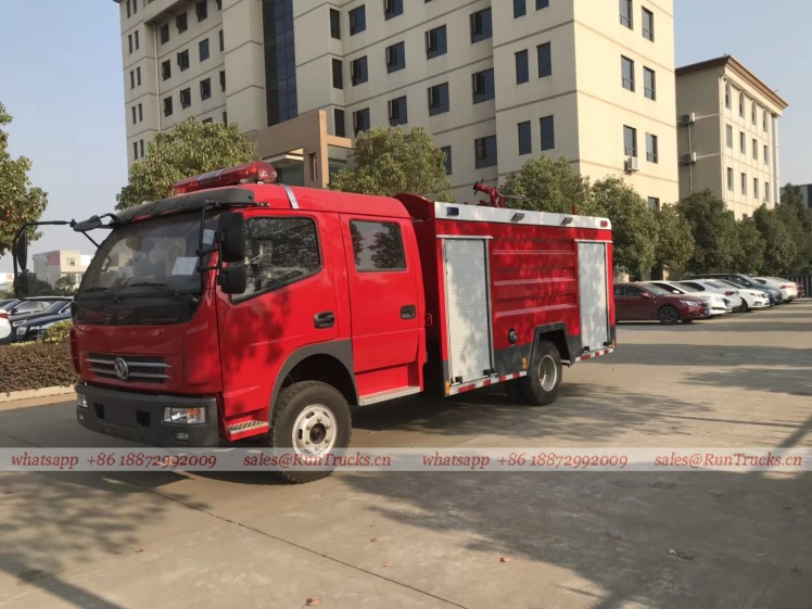 dongfeng 4 cbm water fire fighting truck 01