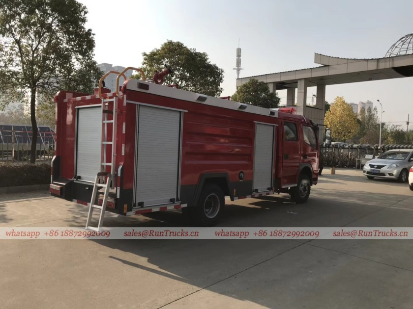 dongfeng 4 cbm water fire fighting truck 04