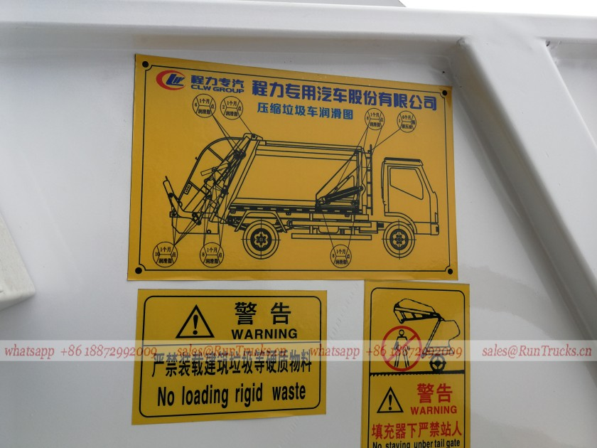 Dongfeng 8cbm compactor garbage truck also called rear loader