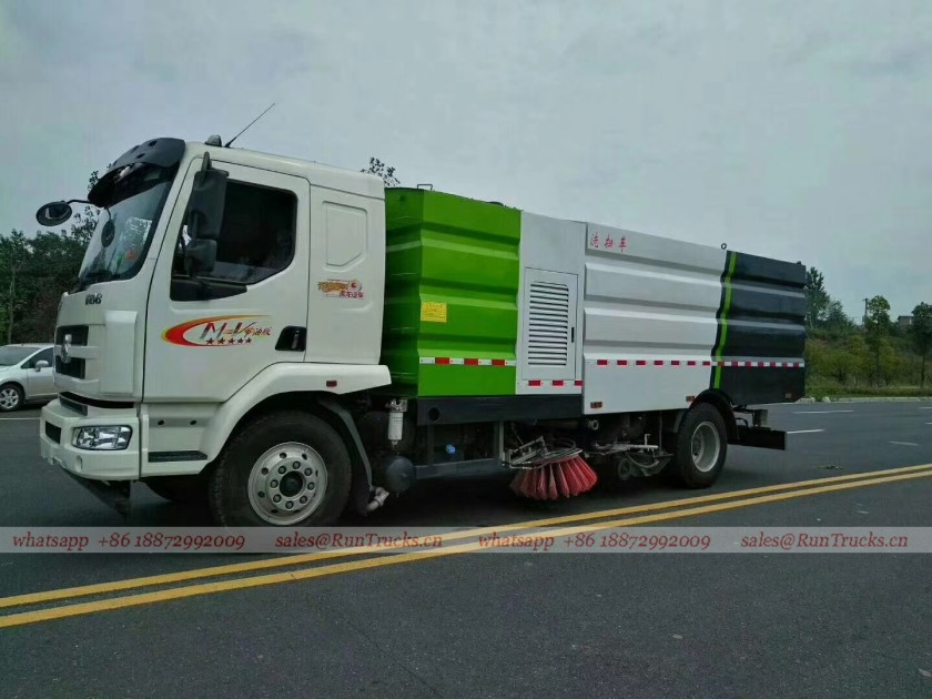 Dongfeng Chenglong road wash & sweeper truck 02