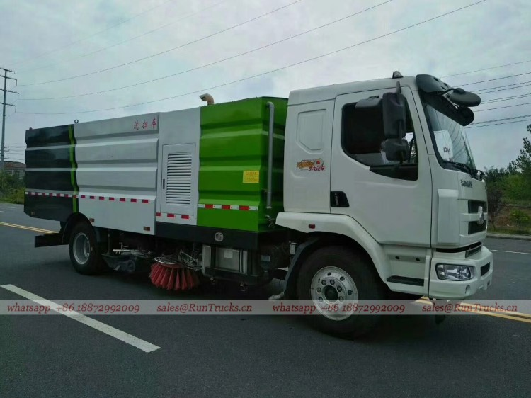 Dongfeng Chenglong road wash & sweeper truck 10