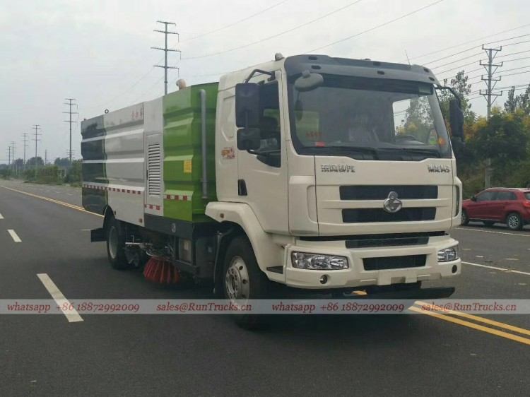 Dongfeng Chenglong road wash & sweeper truck 11