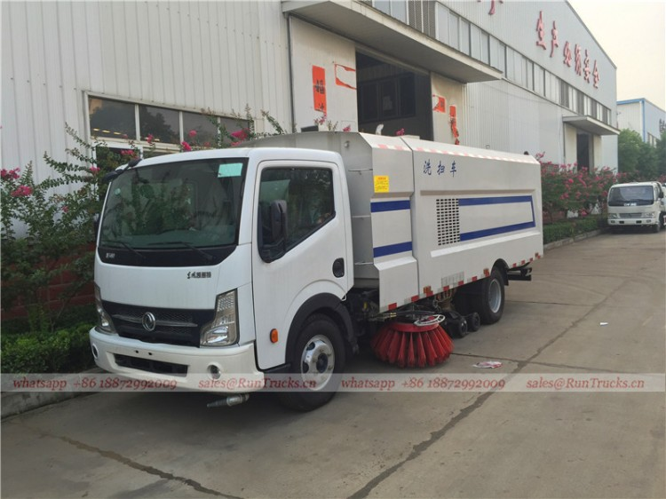 Dongfeng kaipute road cleaning sweeper truck 02