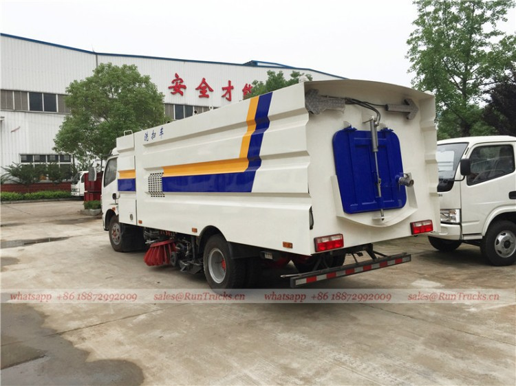 Dongfeng kaipute road cleaning sweeper truck 04