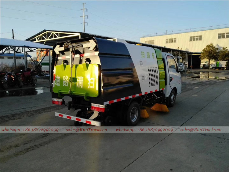 Dongfeng mini 3cbm 4 brush sweeper truck 03