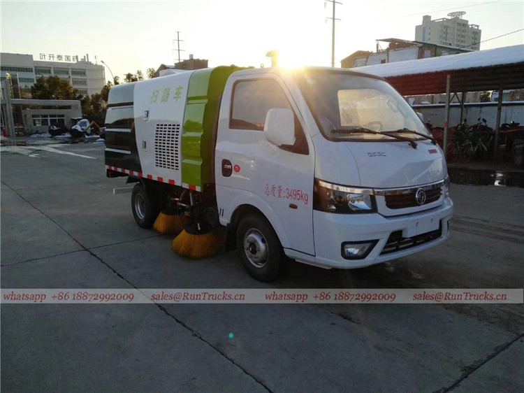 Dongfeng mini 3cbm 4 brush sweeper truck 05