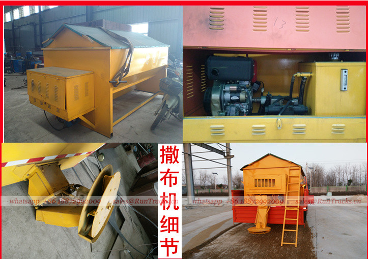 Dongfeng multifunctional snow removal truck with crane and snow melt agent machine 01