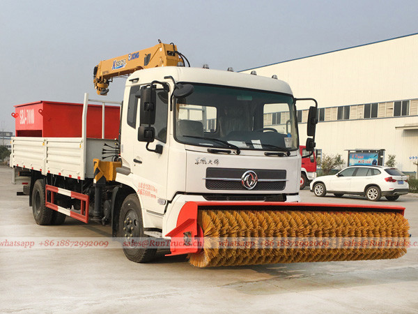 Dongfeng multifunctional snow removal truck with crane and snow melt agent machine 02.jpg