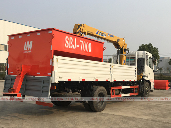 Dongfeng multifunctional snow removal truck with crane and snow melt agent machine 04