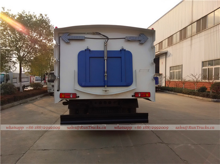 Dongfeng tianjin road sweeper truck with snow shovel and aerial working platform 04