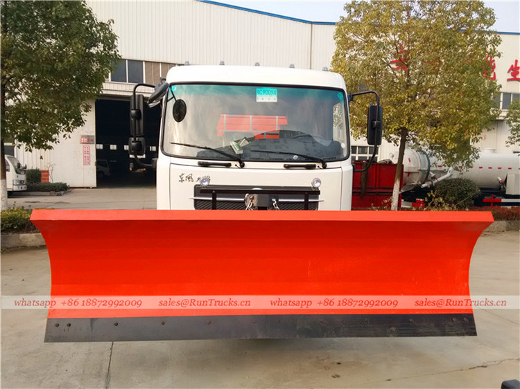 Dongfeng tianjin road sweeper truck with snow shovel and aerial working platform 08