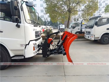 Dongfeng tianjin road sweeper truck with snow shovel and aerial working platform 10