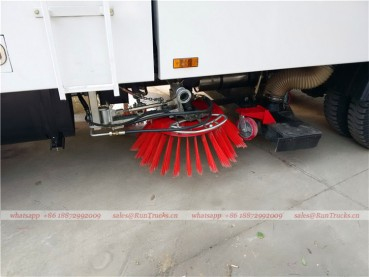 Dongfeng tianjin road sweeper truck with snow shovel and aerial working platform 13