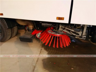 Dongfeng tianjin road sweeper truck with snow shovel and aerial working platform 15
