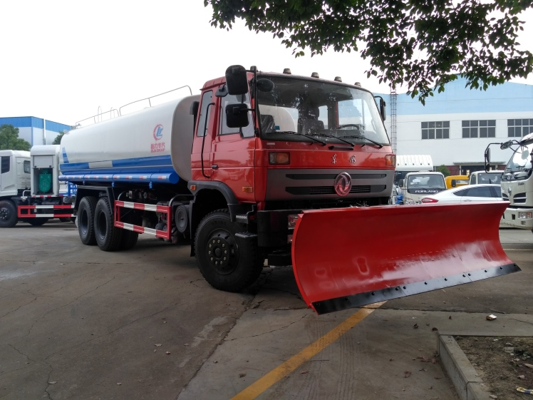 3.6m longma snow plow on water truck.jpg