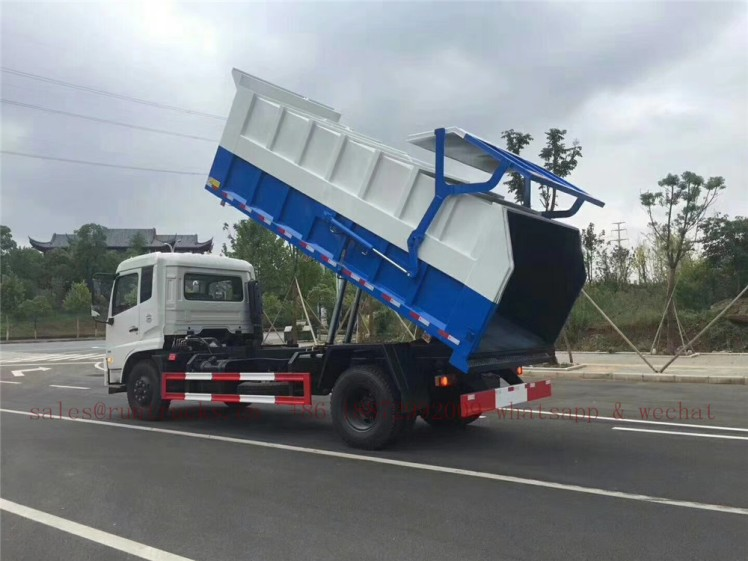 china dongfeng docking garbage truck 05