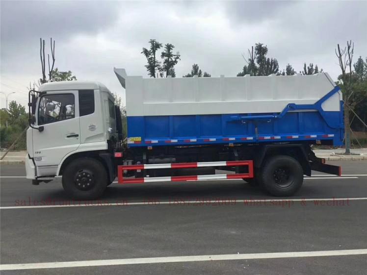 china dongfeng docking garbage truck 07