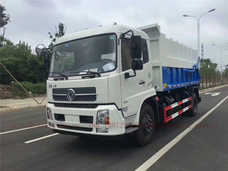 china dongfeng docking garbage truck 08