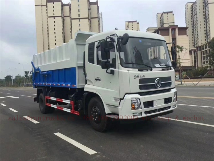china dongfeng docking garbage truck 09