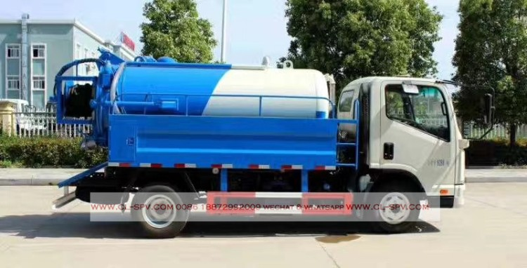 kaima 3000 liters sewage suction truck with cleaning function 02
