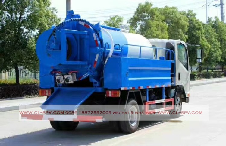 kaima 3000 liters sewage suction truck with cleaning function 04