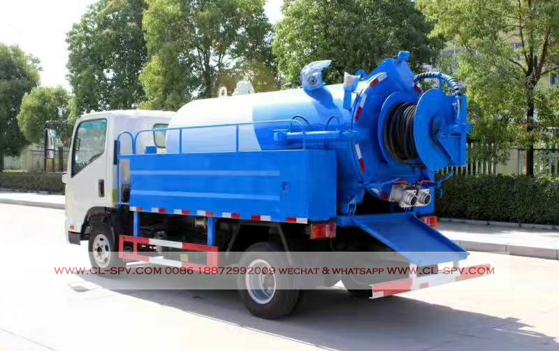 kaima 3000 liters sewage suction truck with cleaning function 07