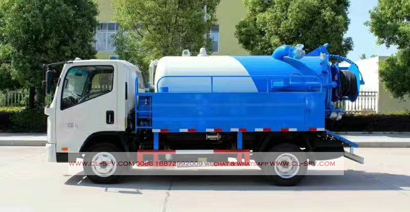 kaima 3000 liters sewage suction truck with cleaning function 08