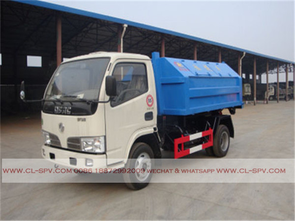 Dongfeng 4000 liters hook arm garbage truck01