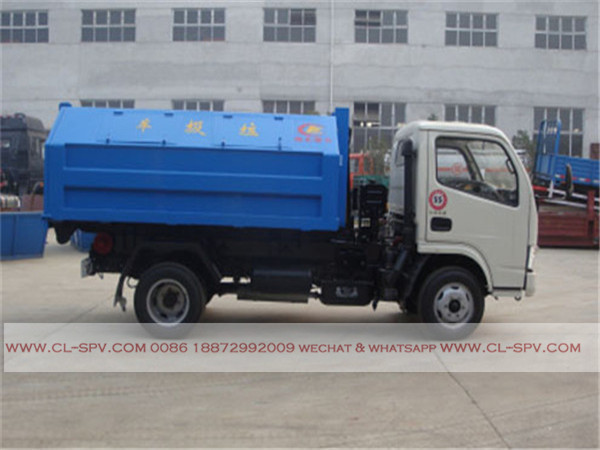 Dongfeng 4000 liters hook arm garbage truck02